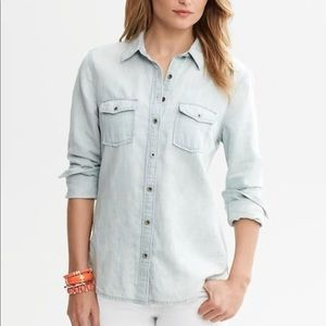 Banana Republic Chambray (light denim) shirt